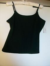 Very Stretchy Black Top with Spandex, Size Large, Zinc, New with Tags