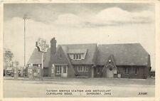 Vintage Postcard; Tavern Service Station Restaurant, Sandusky OH on Cleveland Rd