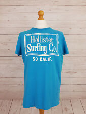 Hollister Men's Sky Blue Short Sleeve Crew Neck Casual Cotton T-Shirt Size XL
