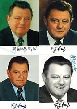 Franz Josef Strauß - 4 verschiedene Foto Autogramm-Karten mit Unterschrift