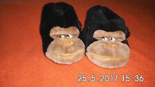 Plüsch Hausschuhe - Gr 41/42 - Pantoffeln -Gorilla Tier-Hausschuhe -Hüttenschuhe