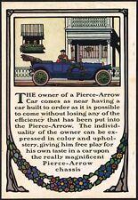 1913 Original Vintage Pierce Arrow Motor Car Guernsey Moore Art Print Ad