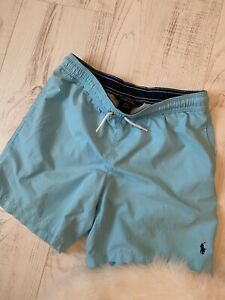 Boys Turquoise Swin Shorts By Ralph Lauren Size L 14-16 Vgc