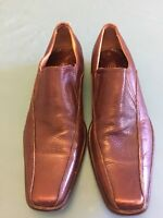 Cristian Bressi Men Italian Brown leather Office Shoes Size 8