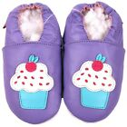 shoeszoo cupcake purple 18-24m S soft sole leather baby shoes