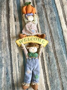 SCARECROW DECORATION FOR DOOR OR WALL HALLOWEEN OR THANKSGIVING