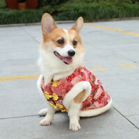 Allacki Chinese Tang Style Thickened Winter Pet Coat High Quality Corgi Clothes