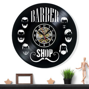 Beauty Salon Hairdresser Barbershop Vinyl Record Wall Clock Gift Decor Wall Art