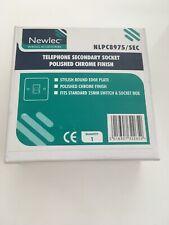 Newlec NLPC8975/SEC Telephone Secondary Socket Polished Chrome