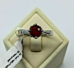 """Sterling Silver """"Crown"""" Ruby? Ring - Lovely setting Never worn-still tagged."""