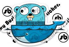 Docker Google Golang Go Programming Language 3 inch Vinyl Sticker Laptop Python