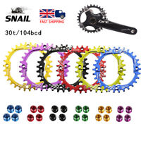 UK 30T 6 Colour Narrow Wide Chainring 104bcd CNC MTB Bike Single Chainwheel Bolt