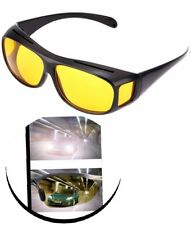 Nachtsichtbrille Überziehbrille Nachtfahrtbrille Sonnen Kontrastbrille Gelb