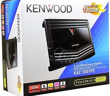 KENWOOD KAC-5001PS 1000 Watt Class-D Monoblock Subwoofer Amplifier 500W Car Amp