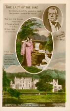 More details for sir walter scott 'the lady of the lake' postcard (rotary photo) 1910s. very rare