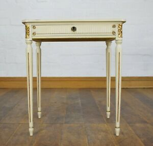 Antique style French country side lamp table / bedside table