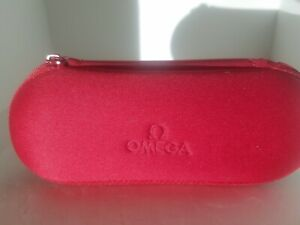 Omega Watch Red Travel Case micro fiber cloth feel to the case.NOT A LEATHER ONE
