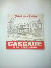 Vintage CASCADE ALES BEER STOUT    Cat No'?? Beermat / Coaster