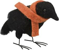 Primitive Country Folk-Art Crow Jude Felted Wool Crow With Scarf