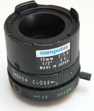 "Computar CS TV Lens 12mm f1.4 1/2"" - For CCTV Security Camera"