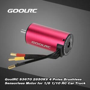 GoolRC S3670 2850KV 4 Poles Brushless Sensorless Motor for 1/8 1/10 RC Car X5H0