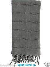 Bamboo Turkish Towels  Black Cotton Stonewash Throw Towel Band New Best Quality