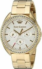 JUICY COUTURE 1901479 CAPRI GOLD STEEL CRYSTAL CHRONOGRAPH WOMEN'S WATCH