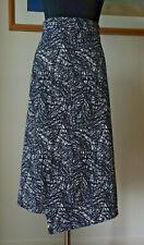 VERONIKA MAINE design women's skirt black & white color  cotton blend size 14