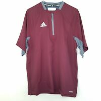 adidas Fielders Choice Adult Mens Baseball Cage Jacket Maroon Size Small $45