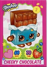 Topps Shopkins Series 1-4 Trading Cards Base Card #48 Cheeky Chocolate