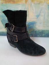 Black Suede Booties Boots Women's size 7