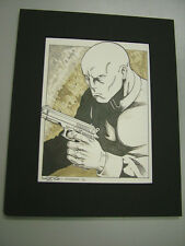 Villains Unlimited: Kevin Long & Siembieda original art, matted - signed 2