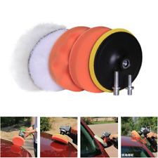 "6pcs 4"" Waxing Buffing Polishing Sponge Pads Drill Adapter Set for Car Polisher"