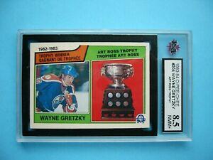 1983/84 O-PEE-CHEE NHL HOCKEY CARD #204 WAYNE GRETZKY TROPHY KSA 8.5 NM/MT+ OPC