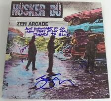 """HUSKER DU Signed Autograph """"Zen Arcade"""" Album LP by All 3 Members Bob Mould"""