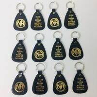 NARCOTICS ANONYMOUS  NA KEY TAG Black Multiple Years Recovery  12 LOT English