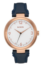 Nixon Women's Rose Gold Tone Chameleon Leather Strap Watch A9922359 NEW IN BOX!!