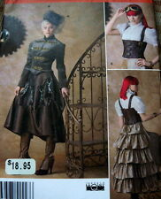 LOVELY GOTH STEAM PUNK COAT & JACKET Sewing Pattern 6-8-10-12UNCUT