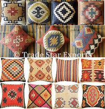 Wholesale Lot Set Of 10 Kilim Jute Cushion Cover Hand Woven Vintage Pillow Cases