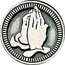 Serenity Prayer PEWTER POCKET TOKEN COIN Keepsake Praying Hands Medal 3.5cm