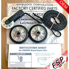 Genuine OEM 4392065 Whirlpool Dryer Maintenance Belt Pulley Roller 341241 691366