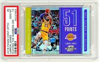 LEBRON JAMES 2018 Panini Contenders Optic #6 HOLO SILVER PSA 10 Playing The # GM