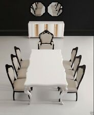 Modern Dining Room Table - Solid Birch Wood - White Dining Table - Angelina