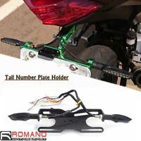Tail Tidy LED License Plate Holder Bracket Kit Universal for Honda Yamaha BMW