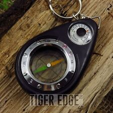 COMPASS + THERMOMETER KEYRING | Survival Emergency Hiking Camping Key Chain