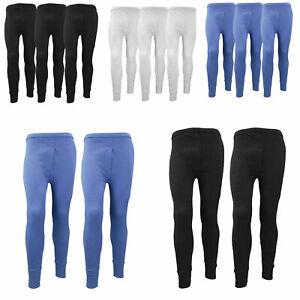 Mens Thermal Long Johns Warm Winter Legging Bottom Workout Trouser Pack Of 2 3