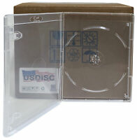 25 USDISC Blu-ray Cases Standard 14mm, Single 1 Disc (Clear)