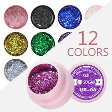UR SUGAR 5ml UV Gel Polish Purple Pink DIY Soak Off Nail Glitter Gel Varnish