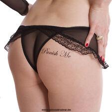 """5 x """"Punish Me"""" und """"Fuck Me"""" Tattoo Schriftzug in schwarz - Sexy Kinky Tattoo"""