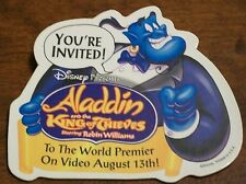 Walt Disney's ALADDIN AND THE KING OF THIEVES Promo Pin 1996 Video Release MINT